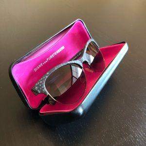 Diane Von Furstenberg Lena Cateye Snake Sunglasses